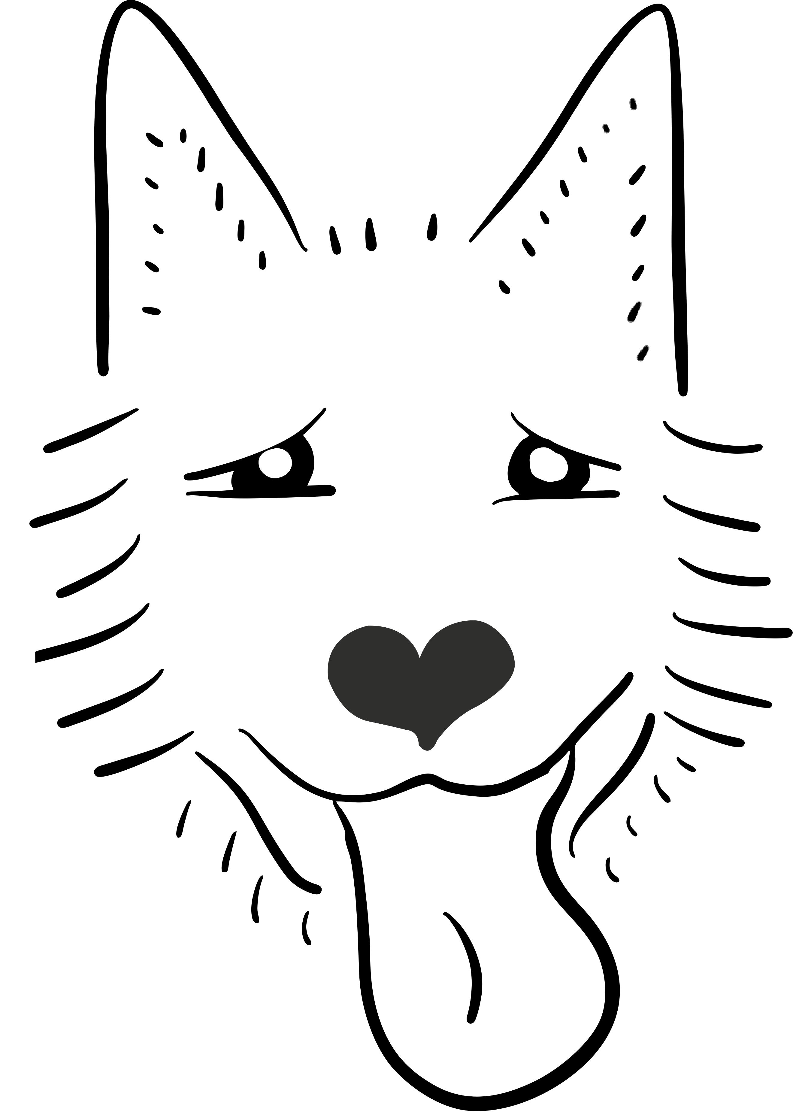 Raw For Us Dog Illustration