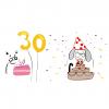 Doğumgünü pastası Cat Birthday Dog Birthday